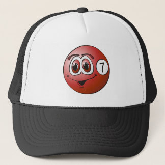 Seven Pool Ball Cartoon Trucker Hat