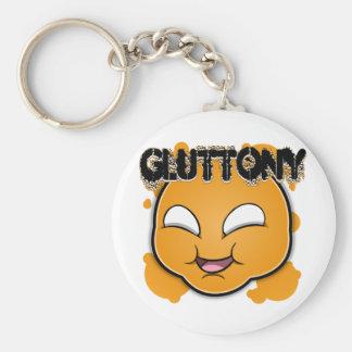 Seven Sins Faces - Gluttony Basic Round Button Keychain