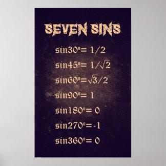 Seven Sins - Math Poster
