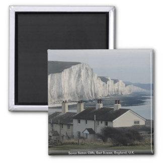 Seven Sisters Cliffs, East Sussex, England, U.K. Magnet