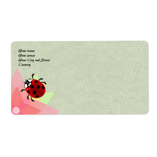 Seven-Spotted Ladybug Shipping Label