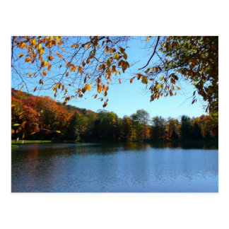 Seven Springs Fall Trees and Pond Postcard