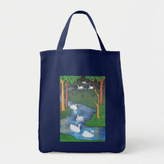 Seven Swans A-Swimming Tote Bag