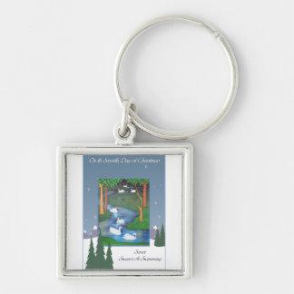 Seven Swans Keychain