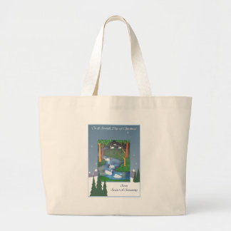 Seven Swans Large Tote Bag