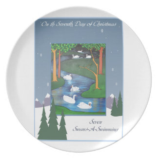 Seven Swans Plate