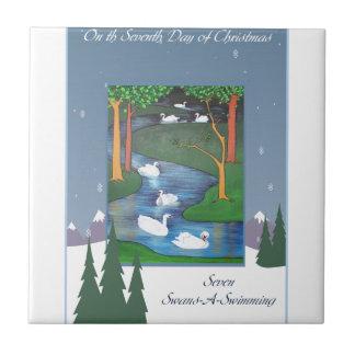 Seven Swans Tile