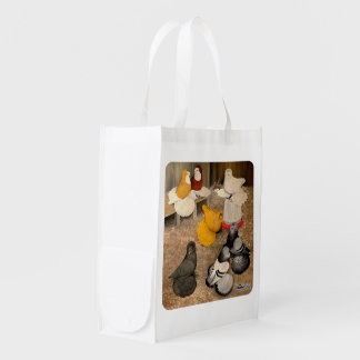 Seven Trumpeter Pigeons Grocery Bags
