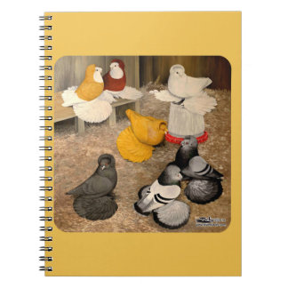 Seven Trumpeter Pigeons Note Book