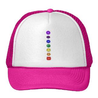 Seven vertical chakras trucker hat