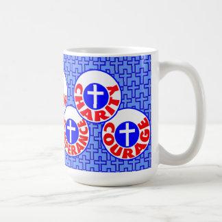 Seven Virtues Classic White Coffee Mug