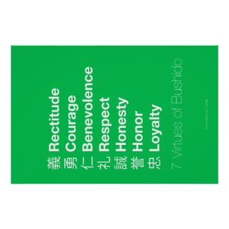 Seven Virtues of the Bushido Poster