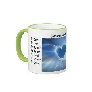 Seven Wonders Ringer Coffee Mug