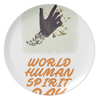 Seventeenth February - World Human Spirit Day Plate