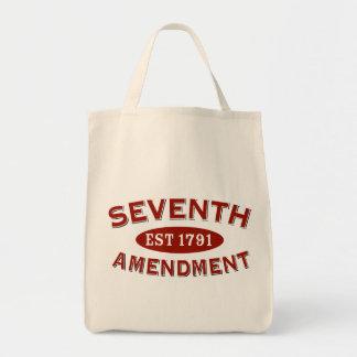 Seventh Amendment Est 1791 Grocery Tote Bag