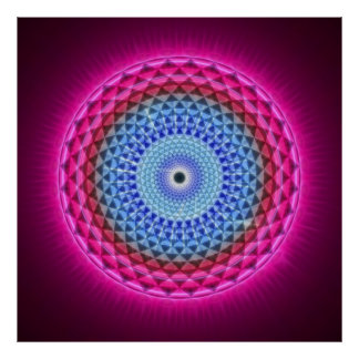 Seventh Chakra - Sahasrara - 1000 Petalled Lotus Poster