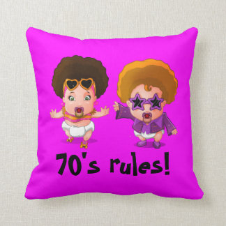 Seventies rules! throw pillow