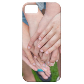 Several arms of girls with hands over each other iPhone 5 covers