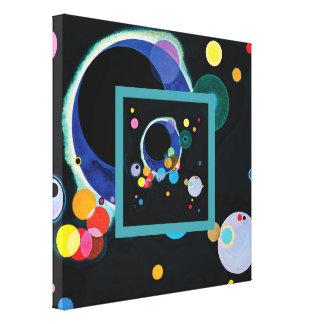 Several Circles by Wassily Kandinsky Canvas Print
