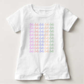 Several colorful bycicle baby romper