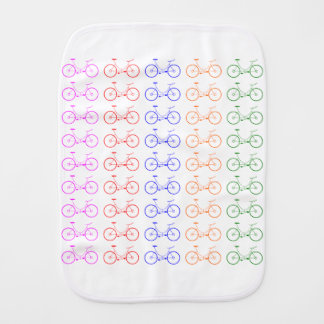 Several colorful bycicle burp cloth