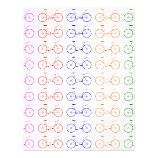 Several colorful bycicle letterhead