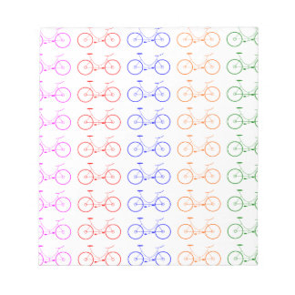 Several colorful bycicle notepad