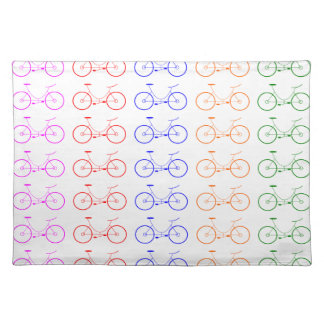 Several colorful bycicle placemat
