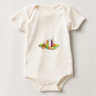 Several colorful fire work ground flowers baby bodysuit