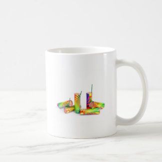 Several colorful fire work ground flowers coffee mug