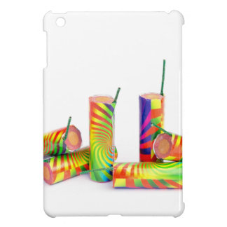 Several colorful fire work ground flowers iPad mini cover