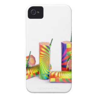 Several colorful fire work ground flowers iPhone 4 cases