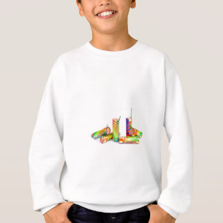 Several colorful fire work ground flowers sweatshirt