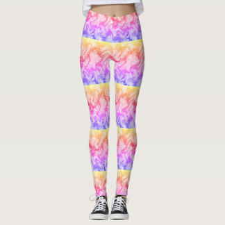 Several Colors in an Cool Pattern Leggings Design
