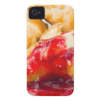 Several croissants with strawberry jam iPhone 4 cover