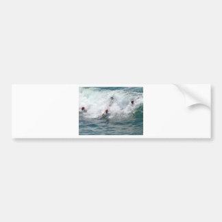 Several Surfers Bumper Sticker