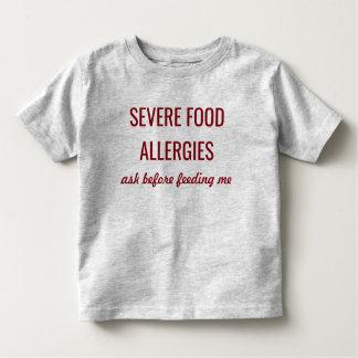 Severe Food Allergies Medical Alert Shirt