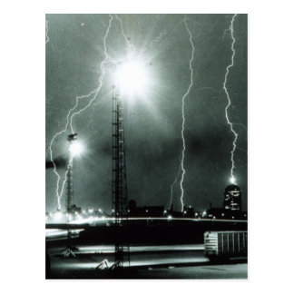Severe Lightning in Boston Postcard