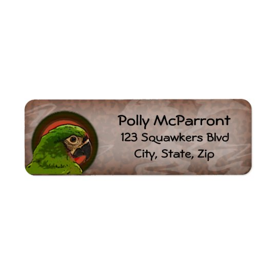 Severe Macaw Return Address Label