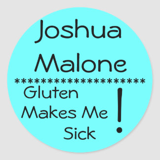Severe Pollen Allergy Label** Classic Round Sticker