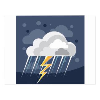 Severe Weather Storm Icon Postcard
