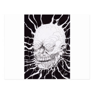 Severed Zombie Horror Head Art Postcard