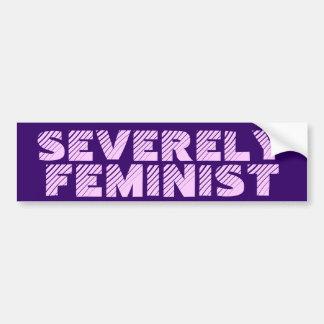 Severely Feminist Bumper Sticker