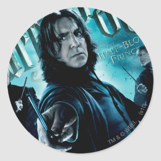 Severus Snape With Death Eaters 1 Classic Round Sticker