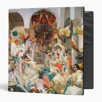 Seville (oil on canvas) 3 ring binder