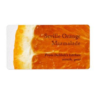 seville orange marmalade label