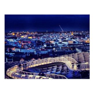 Seville panorama postcard