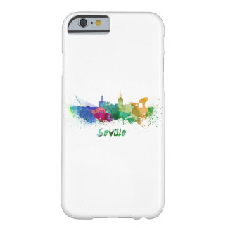 Seville skyline in watercolor barely there iPhone 6 case