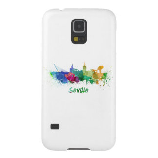 Seville skyline in watercolor galaxy s5 cases