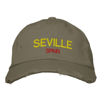 Seville Spain Custom Embroidered Hat